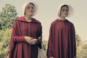 The show landed perfect casting with leads Elizabeth Moss (Offred) and Alexis Bledel (Ofglen)